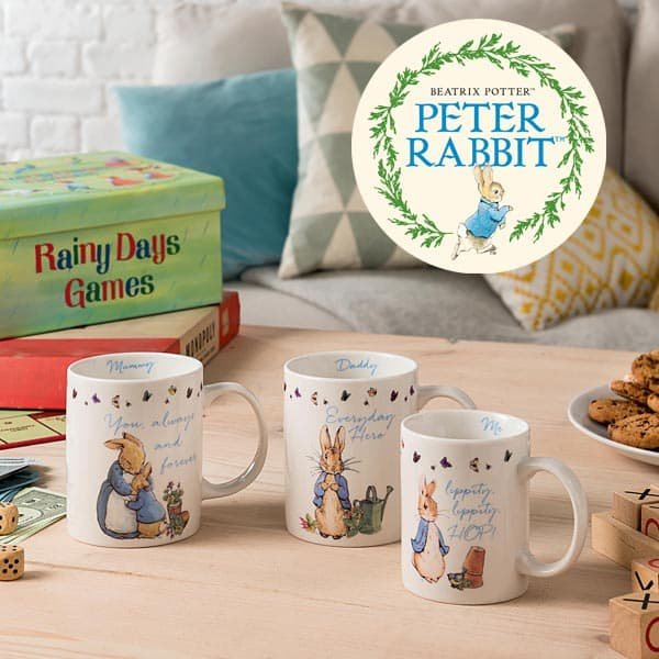 Twinning Trend! Enesco launches new Peter Rabbit™ mug gift set for all the family to enjoy