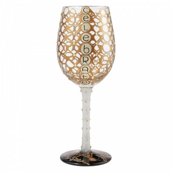 Celebrate Wine Glass