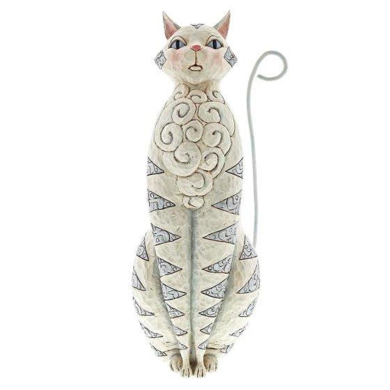 Grey Cat Garden Statue
