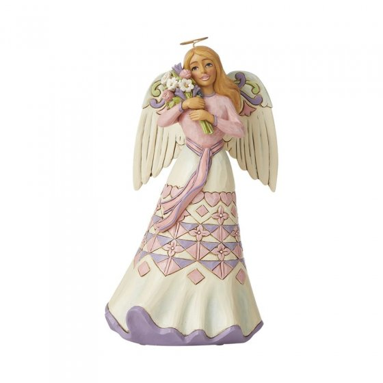 A Bouquet of Love for Mom - Mothers Day Angel with Flowers -