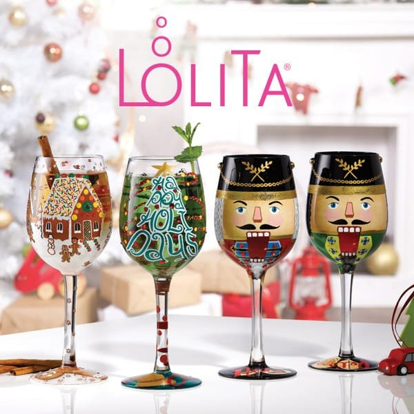 Raising a toast to Christmas with new festive-themed wine glasses from Lolita