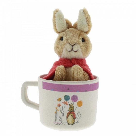 Flopsy Bamboo Mug & Soft Toy Gift Set