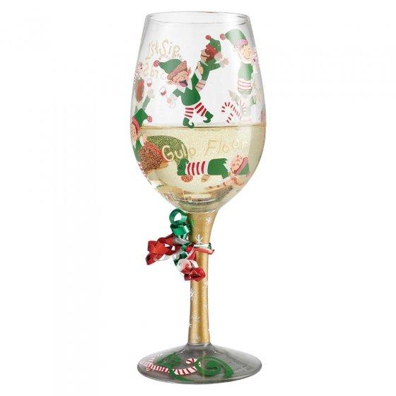 Tipsy Elf Wine Glass