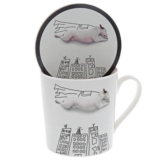 'Super Dog' Mug & Coaster Set