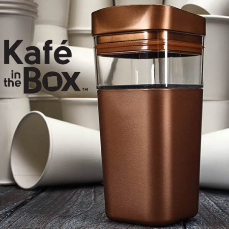 Reusable coffee cups fair and square Enesco launches Kafe in the Box