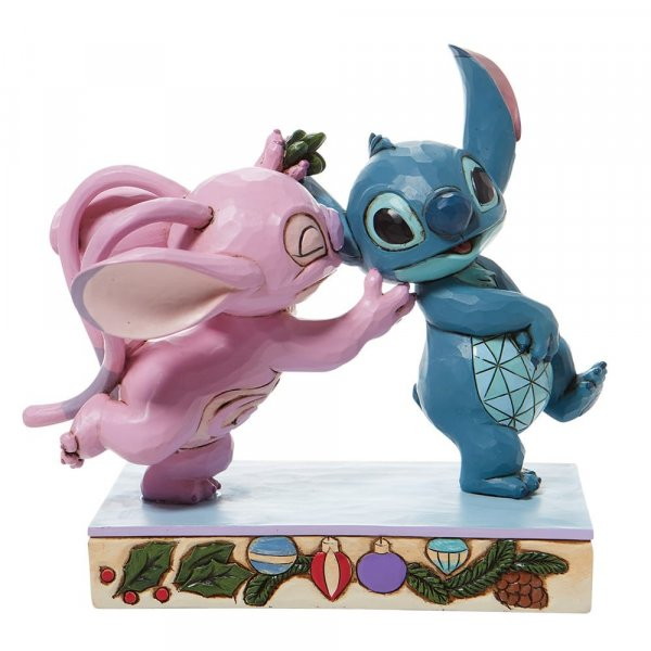 Disney Traditions - Stitch and Angel with Mistletoe
