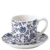 Parisienne Blue Cup & Saucer (White)