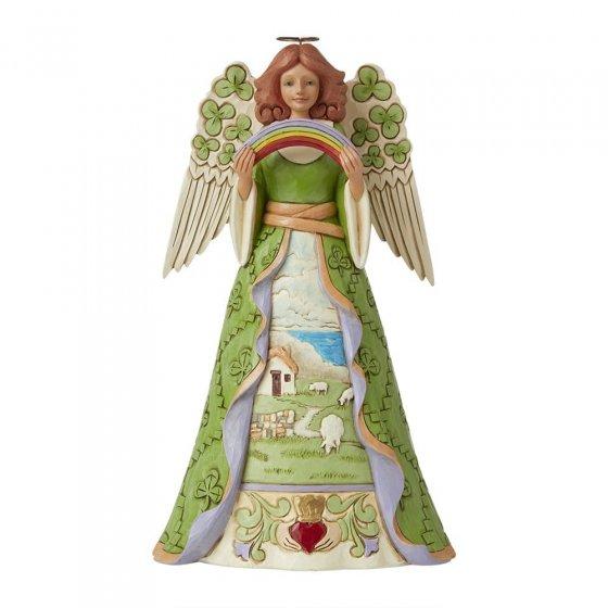 Irish Angel with Shamrock Wings Figurine