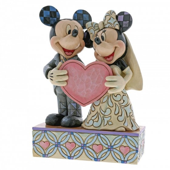 Two Souls, One Heart (Mickey Mouse and Minnie Mouse Figurine