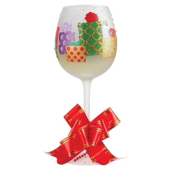 Superbling Yuletide Treasures Wine Glass