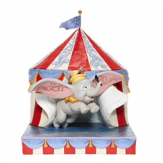 Over the Big Top - Dumbo Circus out of Tent Figurine