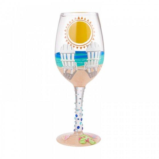 Sun of a Beach Wine Glass