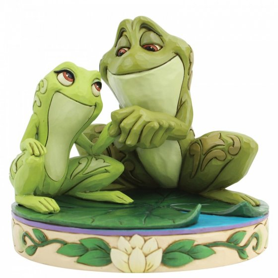 Amorous Amphibians (Tiana and Naveen as Frogs Figurine)