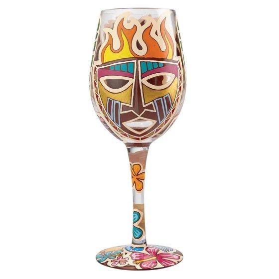 Tiki Wine Glass