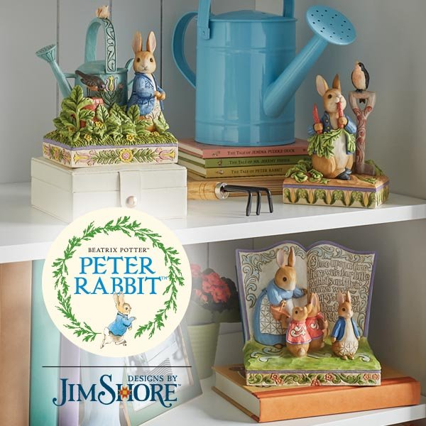 New collaboration between Beatrix Potter and Jim Shore brings Peter Rabbit and his pals to life like never before.