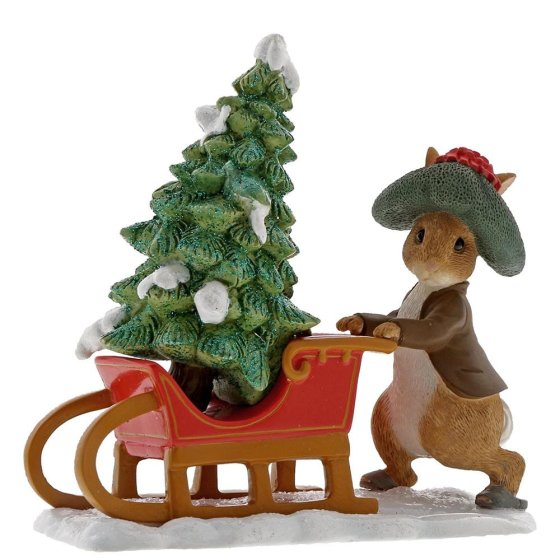 Benjamin Bunny Preparing for Christmas