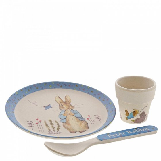 Peter Rabbit Bamboo Egg Cup Dinner Set