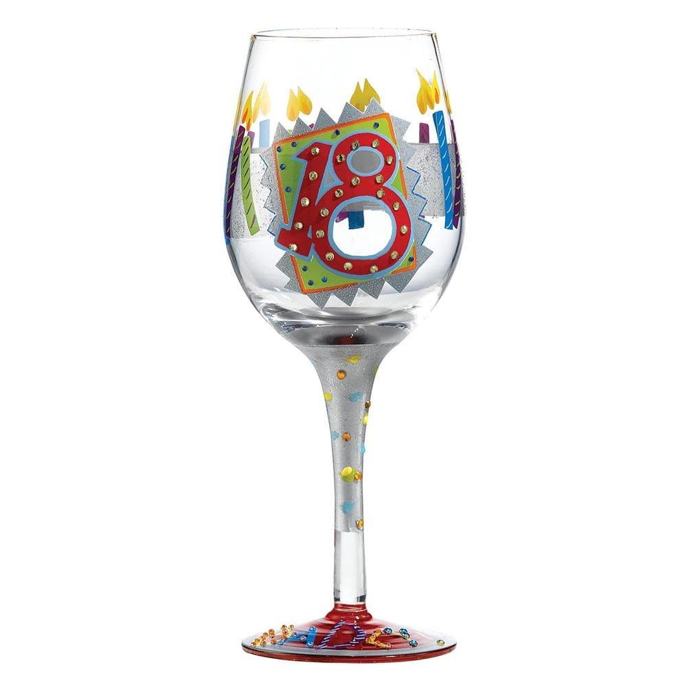 18th Birthday Wine Glass : Enesco