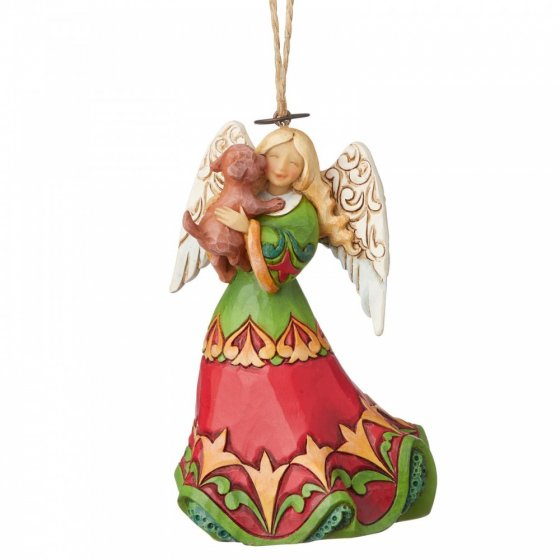 Angel Holding Puppy (Hanging Ornament)
