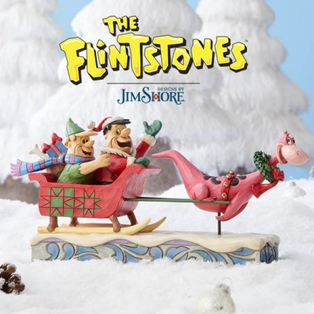 Have a Yabba Dabba Yuletide as Enesco launches first Christmas statement for The Flintstones by Jim Shore