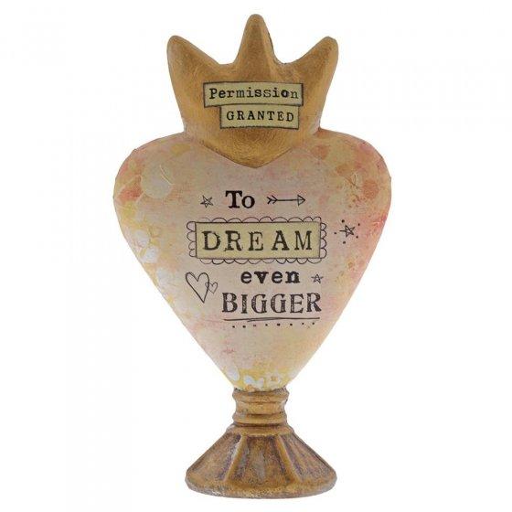 Permission Granted To Dream Heart Sculpture