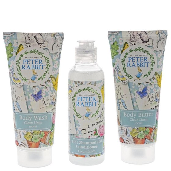 Peter Rabbit Clean Linen Travel Set