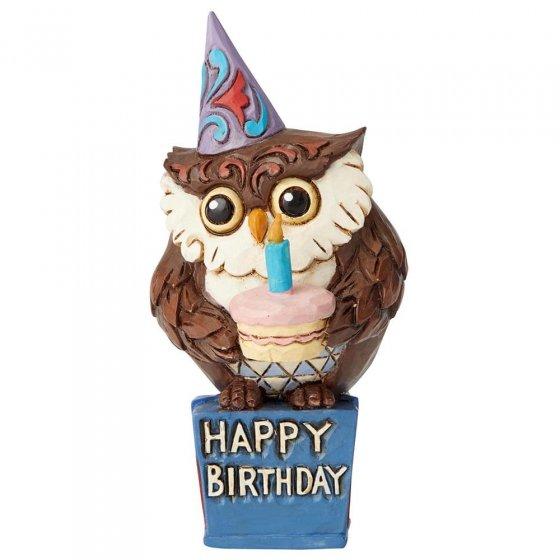 Birthday Owl Mini Figurine