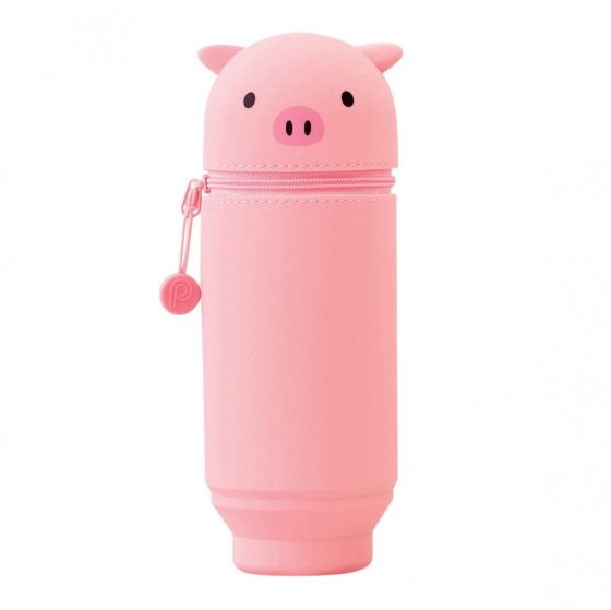 Pig Stand Up Pen Case (Large)