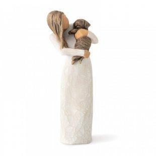 Adorable You (dark dog) Figurine