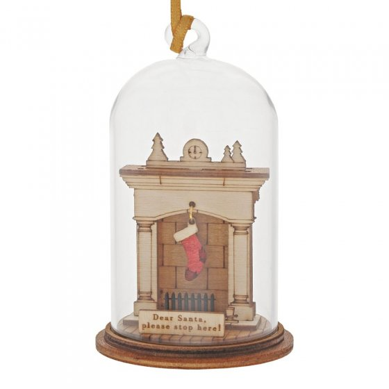 Santa Please Stop Here Hanging Ornament