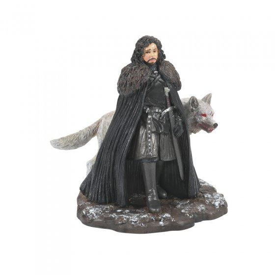Jon Snow and Ghost Figurine - Game of Thrones by Dept 56