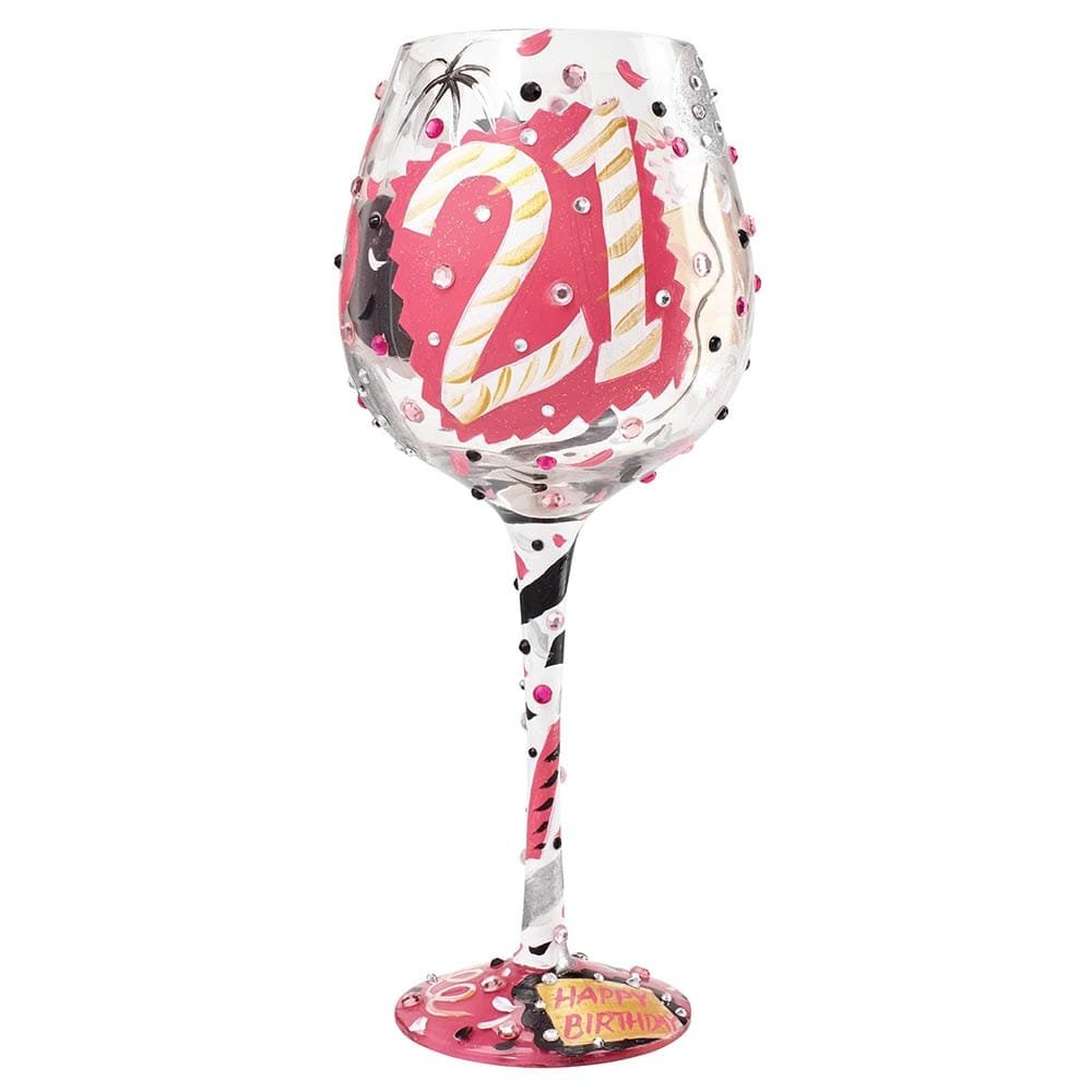 Superbling 21 Extra Large Wine Glass Enesco