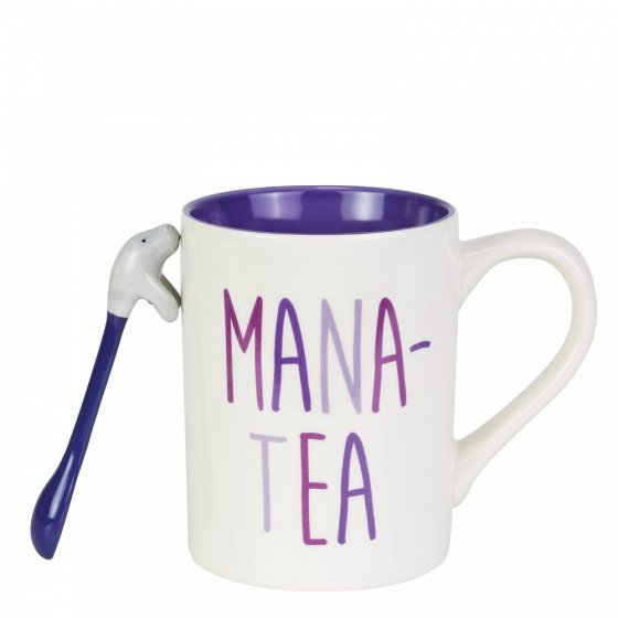 Mana-Tea Mug with Sculpted Spoon Set