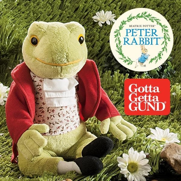 Mr Jeremy Fisher and Hunca Munca and Baby join GUND® Beatrix Potter collection