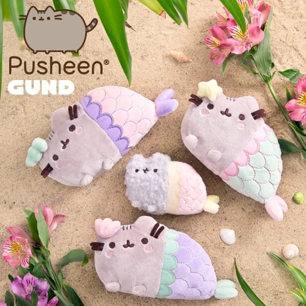 Product Features Pusheen plush toy in classic pose brings adorable web comic to life.