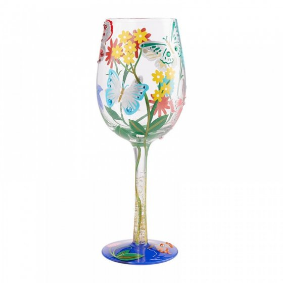 Bejeweled Butterfly Wine Glass by Lolita