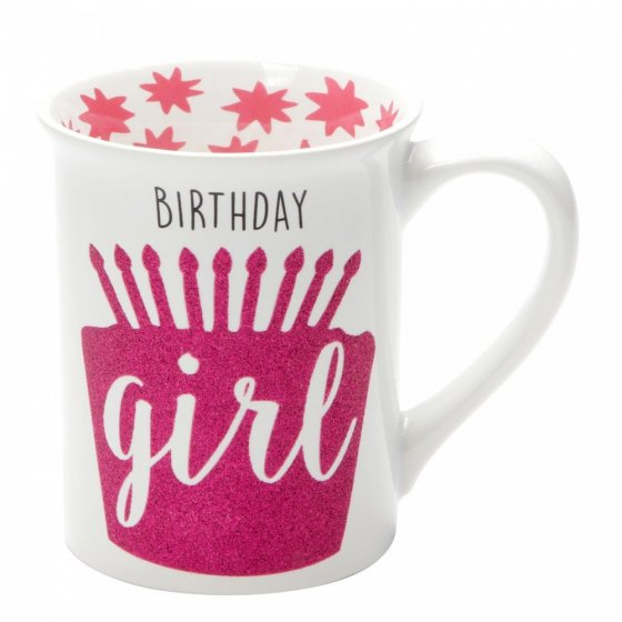 Birthday Girl Glitter Mug