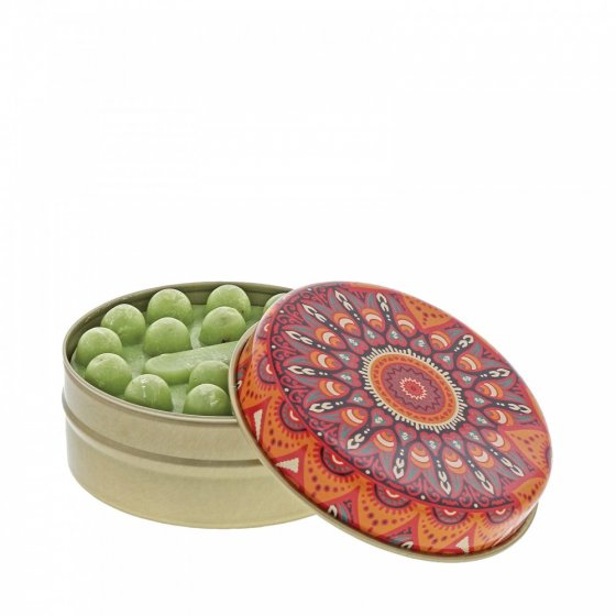 FS Red and Orange Kaleidoscope with Olive Soap