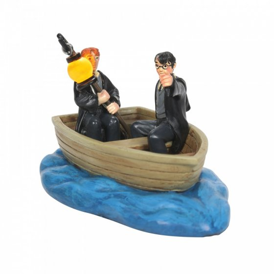 Harry and Ron in a Boat Figurine - Harry Potter Village by D
