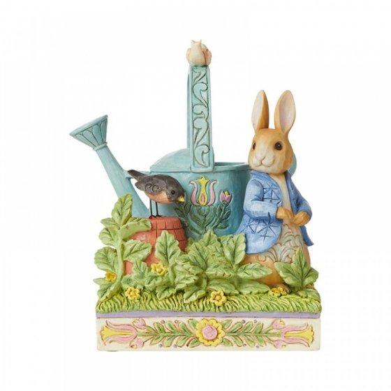 Caught in Mr. McGregor's Garden (Peter Rabbit Figurine)