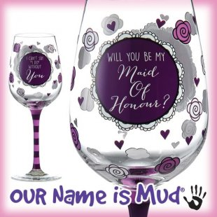 Ask That All-important Question with the Latest Our Name Is Mud® Wine Glasses