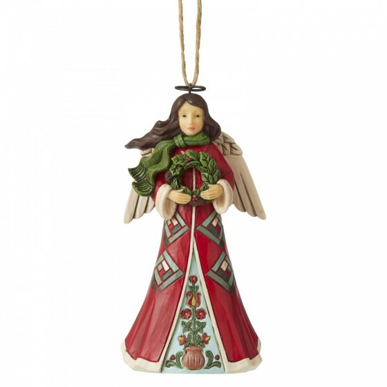 Angel with Wreath (Hanging Ornament)