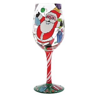 A Claus for Celebration Wine Glass