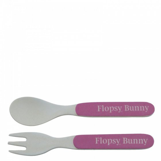 Flopsy Bamboo Fork and Spoon Set