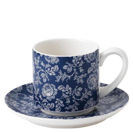 Parisienne Blue Cup & Saucer (Blue)