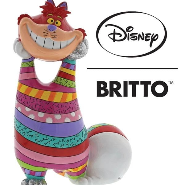 Enesco unveils a new Cheshire Cat statement figurine as part of its  Disney Britto collection