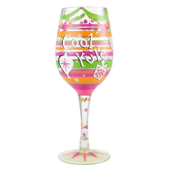 Cool Yule Wine Glass