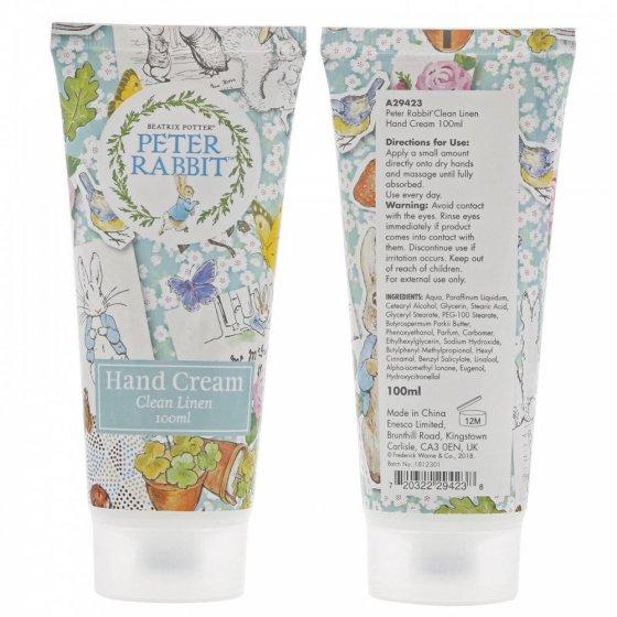 Peter Rabbit Clean Linen Hand Cream 100ml with CDU (CDU hold