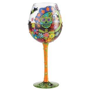 Superbling Sugar Skulls Wine Glass
