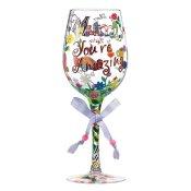 Mum You're Amazing Wine Glass
